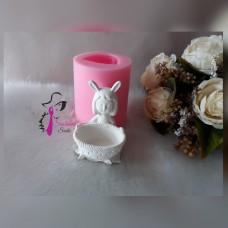 Tavşan Kiz Lokumcu Silikon Kalıbı